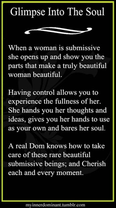 Glimpse into the submissive soul