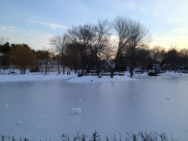 On Frozen Pond – Before and After the Fall