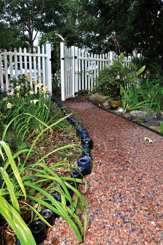 How to Recycle Bottles for Garden Edging