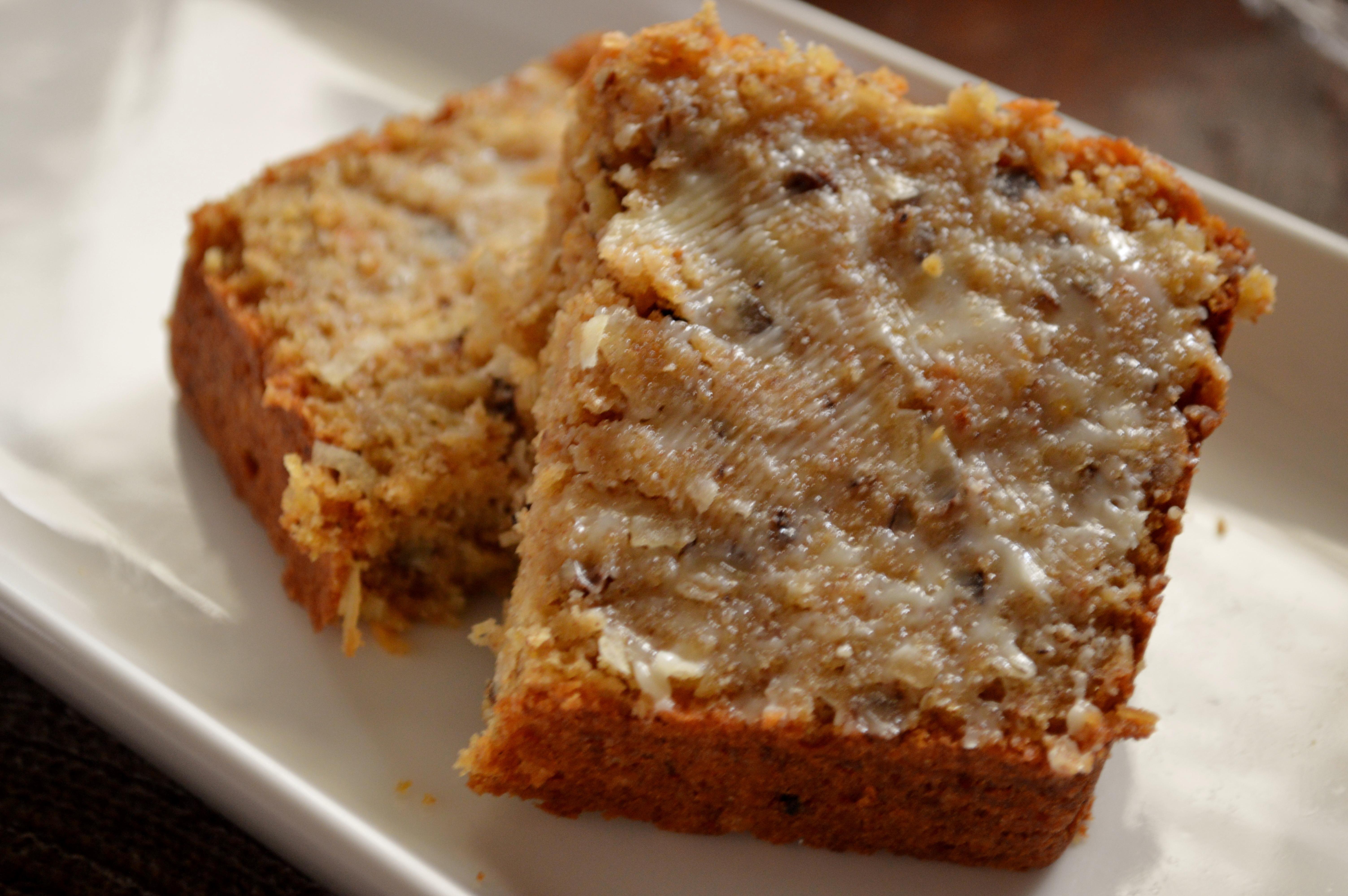 Cantaloupe & Coconut Bread
