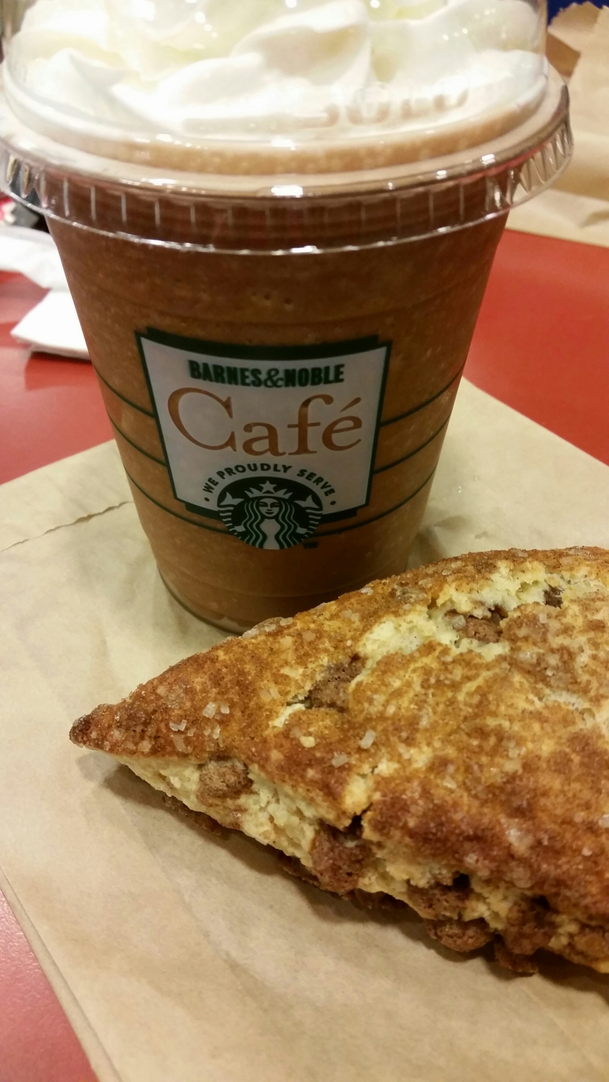 Wordless Wednesday: A snack at Barnes & Noble!